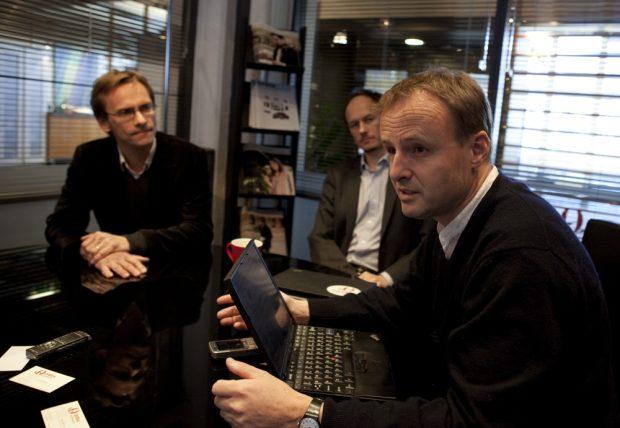 Christen Krogh, Rikard Gillemyr och Håkon Wium Lie.